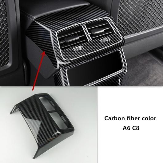 AL コンソール リア エア ベント 装飾 フレーム ギア ハンドブレーキ ボタン カバー トリム ステッカー 適用: アウディ A6 C8 リア ストレージ カバー・リア エアベント カバー AL-EE-4712画像