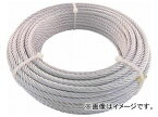 トラスコ中山 JIS規格品メッキ付ワイヤロープ(6×19)φ6mm×50m JWM-6S50(7599501)