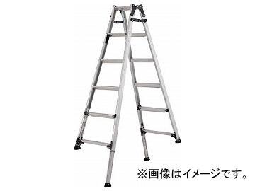 アルインコ 伸縮脚付きはしご兼用脚立(踏ざん幅60mm・各脚441mm伸縮 PRT120FX(8202639)