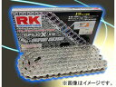2輪 RK EXCEL レーシングチェーン スプリント/耐久レース兼用 GP シルバー GP428MR-U 126L TZR50 YZ85LW(ラージ)