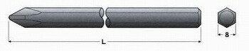 エイト/EIGHTプラスドライバービットエアー・電動ドライバー用片ロプラスビット/対辺=8/溝無(紙袋入り)EA-06(+)No.3×3606303610本組×10セット