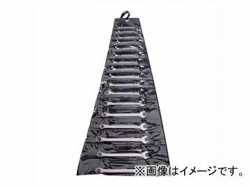 バーコ/BAHCOプラスチック・ワレット入り片目片口スパナセット1952M/17T