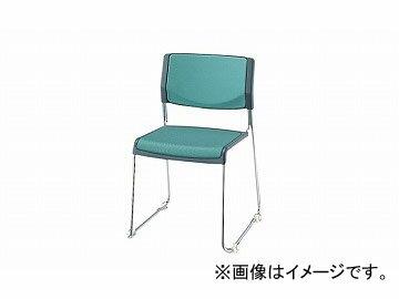 ナイキ/NAIKI会議用チェアーループ脚/ステンレスタイプライトグリーンE147SF-LGR514×510×755mm