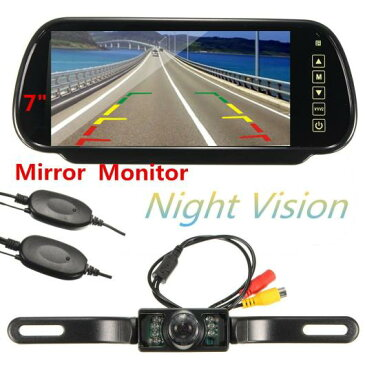 AL HD 7インチTFT液晶ディスプレイ1024*600 カー ミラーモニターMP5 USB SDワイヤレスリアビューカメラ パーキング システム AL-AA-1660
