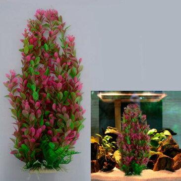 AL アクアリウム ファッション 水槽 オーナメント シミュレーション水中46cm 水植物 水族館 プラスチック レッド サイズ1 AL-AA-2822