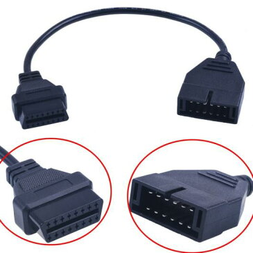 AL 車用ケーブル 12ピンOBD1 16ピンOBD2コンバータ アダプタ ケーブル コンバータ USB ソケット カー ダッシュボード ワイヤー アンプ USB カー 充電器 ブラック AL-AA-7700
