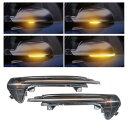 AL 2ピース 適用: アウディ/AUDI A6 C7 RS6 ライン ダイナミック ウインカー サイド ミラー ライト LED 2013 2014 2015 2016 2017 AL-II-1724