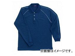 ラカン 長袖ポロシャツ ネイビー Big E1712
