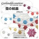 APガーランドデコレーション雪の結晶スパンコールMerryChristmas♪選べる5カラーAP-UJ0073