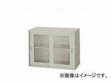 ナイキ/NAIKI ネオス/NEOS ガラス引違い書庫 枠付 ウォームホワイト NWS-0807HG-AW 800×400×700mm