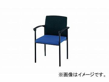 ナイキ/NAIKI会議用チェアー肘掛付4本脚タイプブルー/ブラックE239F-BLB597×531×820mm