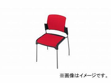 ナイキ/NAIKI会議用チェアー4本脚タイプレッドE243-RE530×520×800mm