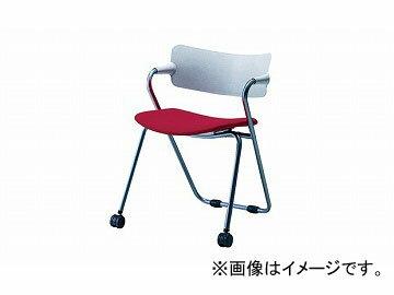 ナイキ/NAIKI会議用チェアーレッドE264F-RE560×521×745mm