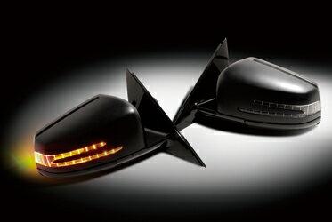 for MERCEDES BENZ S-CLASS W221 W221 2010y~ LOOK ARROW MIRROR 197/ブラック