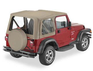 【US直輸入正規品】BESTOP (べストップ)Replace-A-Top(リプレイスアトップ)Jeep Wrangler(ジープ ラングラー)1997-2002年(ドアなし)※ダークタンベージュ