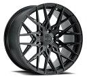 XO エックスオー Phoenix フェニックス22x9J フロントリアPCD 5/120 ハブ径 76.1 mmDouble Black (Matte Black Gloss Black face) ダブルブラック(マットブラック、グロスブラックフェイス)カラーホイール4本セット (送料無料)