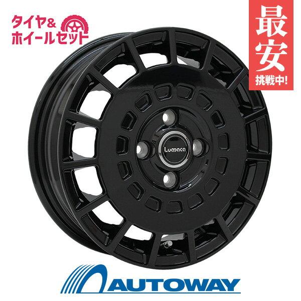 165/55R15サマータイヤタイヤホイールセットLUMACAMODEL-315x4.5+43100x4BLACK+AS-1
