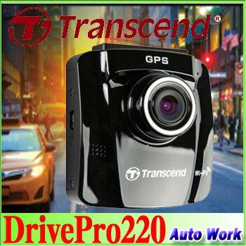 Transcend トランセンド GPS搭載ドライブレコーダー Wi-fi対応 FullHD 駐車監視付 DrivePro 220 ...