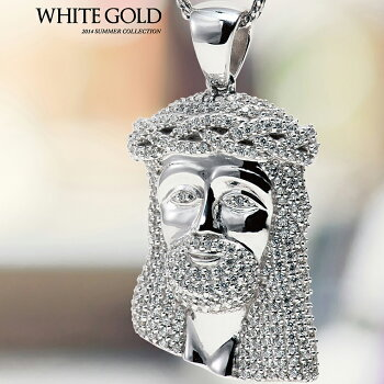 【MICROPAVEJESUS】10KWHITEGOLD【ホワイトゴールド】ペンダントヘッド3-9528-04※対応商品