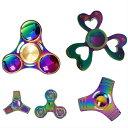 【送料無料】ハンドスピナー Handspinner金属製 虹色 カラフル Vacuum plating color 玩具 おもちゃ 指スピ...