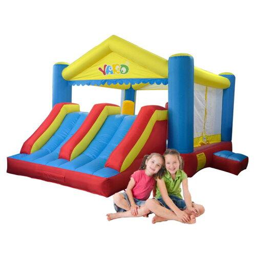 エア遊具 ふわふわ ダブルスライドバウンスハウス イベント遊具 定員:子供5-7人