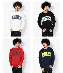 AVIREX公式通販・DAILY|メンズ長袖クルーネックロゴスウェットL/SCREWNECKLOGOSWEAT【送料無料】