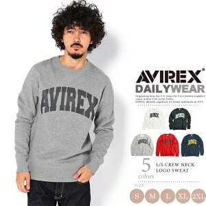 AVIREX公式通販・DAILY メンズ長袖クルーネックロゴスウェットL/SCREWNECKLOGOSWEAT【送料無料】