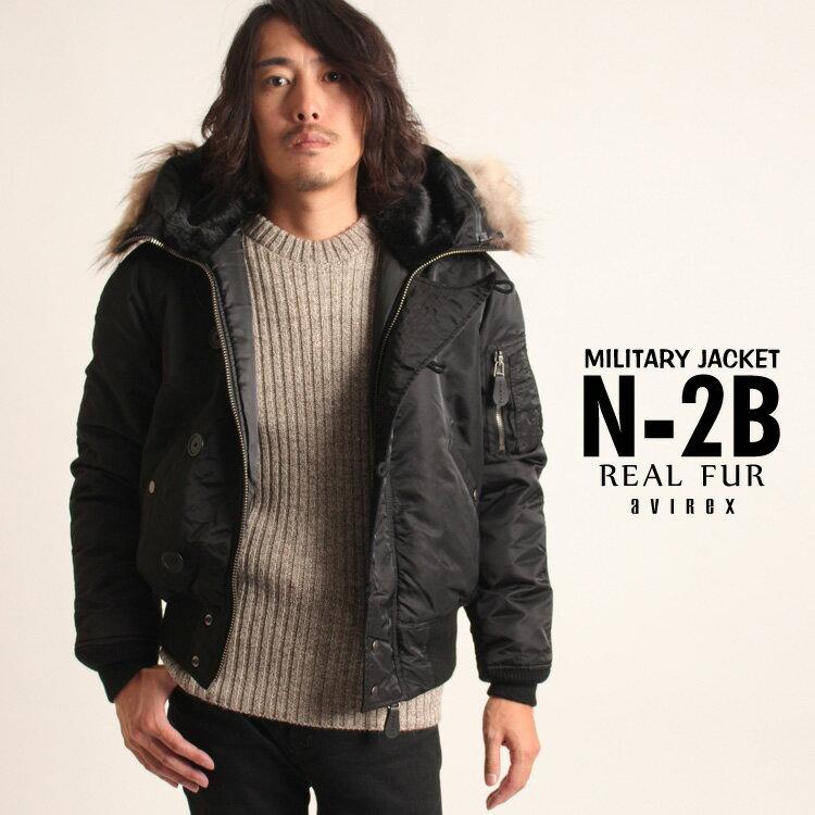 メンズファッション, コート・ジャケット AVIREX N-2B COMMERCIALREAL FUR)