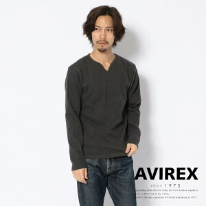 AVIREX 公式通販・DAILY WEAR   デイリー ミニワッフル キーネック Tシャツ/DAILY MINI WAFFLE KEYNECK(アビレックス アヴィレックス)メンズ 男性