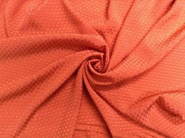 イタリア製輸入生地 シルク100% 11−6 90x210cm 濃いオレンジ色地に濃淡の小柄