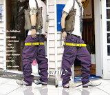 【本日P5倍+1000円オフクーポン付】 人気 サルエル メンズ スキニー サロン系 2連ZIPWウエスト サルエルパンツ PURPLE(紫) 2021