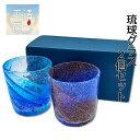☆送料無料☆ビーチグラス 2個セット(青水・青紫) ウイスキーグラス コーヒーグラス 退職 祝い 芋焼酎グラス お酒グラス プレゼント かわいい オシャ