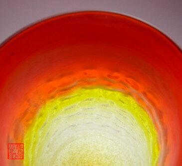【琉球ガラス(琉球グラス)専門店】泡ハーフ4インチコップ 赤H100mm×W75mm琉球グラス グラス コップ 沖縄グラス カレット ペア ワイン ワイングラス セット ロックグラス 還暦祝い 名入れ ガラス おしゃれ バカラ ペアグラス