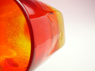 【琉球ガラス(琉球グラス)専門店】泡ハーフ六角コップ 赤H85mm×W85mm琉球グラス グラス コップ 沖縄グラス カレット ペア ワイン ワイングラス セット ロックグラス 還暦祝い 名入れ ガラス おしゃれ バカラ ペアグラス