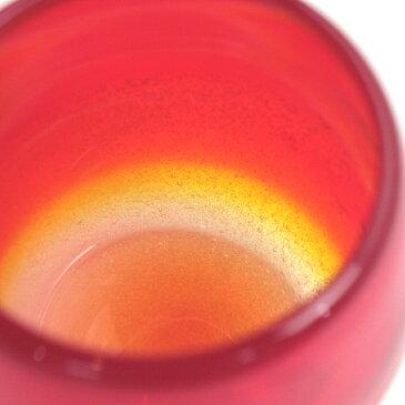 【琉球ガラス(琉球グラス)専門店】泡ハーフタル型コップ 赤H80mm×W80mmコップ 沖縄グラス カレット ペア ワイン ワイングラス セット ロックグラス 還暦祝い 名入れ ガラス おしゃれ ペアグラス 母の日 早割り ギフト プレゼント