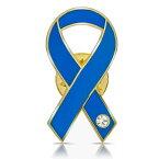 ブルーリボン ピンバッジ 平 世界自閉症デー 拉致 日本代表 侍ブルー アウェアネス ピンバッチ ピンバッヂ