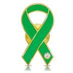 グリーンリボン ピンバッジ 平 臓器移植 脳死 心臓移植 心筋症 アウェアネス ピンバッチ ピンバッヂ