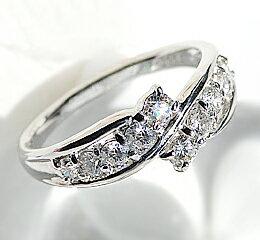 pt900 0.5ct テンダイヤ リング 【楽ギフ_包装】:jewelry shop BeJ