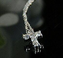 k10WG/PGダイヤモンドクロスネックレス