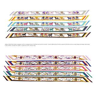 アンティークチェーン&ホースデザイントゥイリー細スカーフ長方形細スカーフ【全6色】【RCP】神戸KOBEこうべ