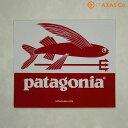 patagonia(パタゴニア) Trident Fish Sticker Col.RED[ステッカー ホワイト×レッド 正規品]