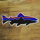 patagonia(パタゴニア) SMALL FITZ ROY TROUT STICKER[ステッカー ブルー系 正規品]