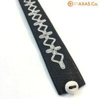 【vaokh】saamicrafts(サーミクラフト)レザーブレスレットMickiCol.BLACKブラック[ユニセックスアクセサリーブレスレットホーンボタン送料無料]