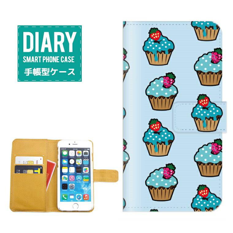 iPhone XS ケース 手帳型 スイーツ お菓子 パンケーキ マカロン ドーナッツ いちご ストロベリー チョコレート