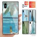 スクエア型 背面 ガラスケース TPUケース iPhoneXR iPhone8 ケース iPhone iPhone SE 第2世代 ……