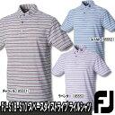 【18春夏】フットジョイ FJ-S18-S10 スペースダイストライプ ライルシャツ(半袖ポロシャツ)【10373】