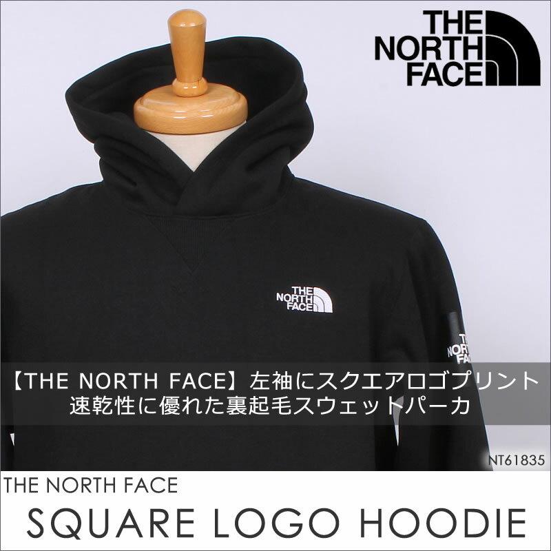THE NORTH FACE ザ ノースフェイス スクウェア ロゴ フーディー SQUARE LOGO HOODIE パーカNT61835_OM_Z_UN_K【¥12000(本体)+税】