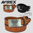 Leather Belt(キーリング付 レザーベルト)バックルはAVI...