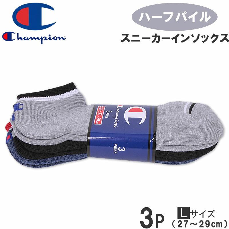 靴下・レッグウェア, 靴下 2729cm(3)champion3PNavyBlack Graychampion-C1-0786T-G997