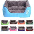 犬 猫ベッドペット ソファ ベット スクエア ペットハウス サイズ3XL ふんわり!全9色 約110*85*19CM 大きいサイズ